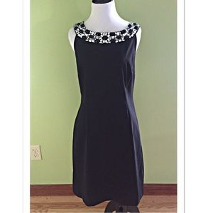 Connected Apparel Dresses & Skirts - NWT Connected Apparel Jeweled Collar Black Dress