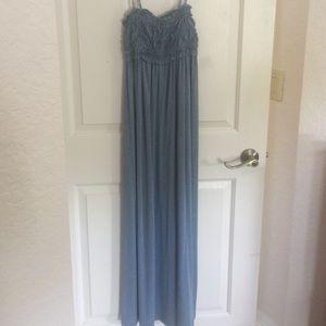 Max Studio Beautiful denim color long dress S