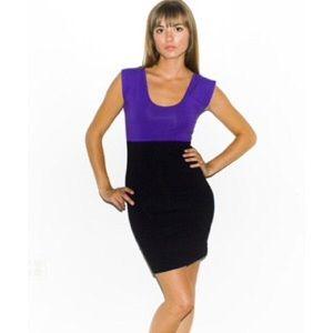 American Apparel Two Tone Purple/Blk Dress, sz L