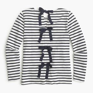 {j. crew} 🌿 bow back striped breton top