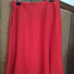 Coldwater Creek Dresses & Skirts - Beautiful vibrant red fitted skirt with flair.