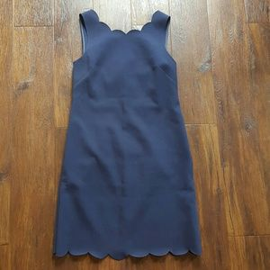 J.Crew navy scallop edge dress