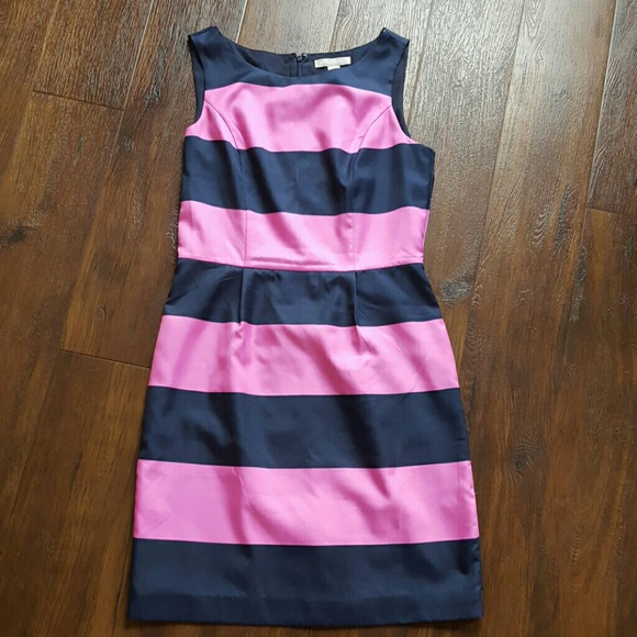 Banana Republic Dresses - Navy pink striped Banana Republic dress