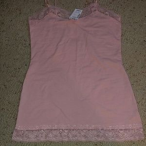 Zenana Outfitters Tops - NWT Light pink lace tank