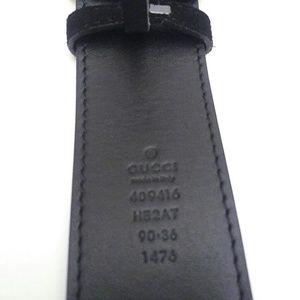 2c477c47418 Gucci Accessories - Gucci 90 cm (32-36in) Clover Black Suede