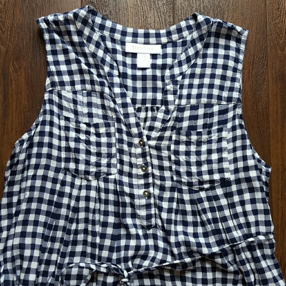 Motherhood Maternity Dresses - Final! Navy gingham maternity dress tunic