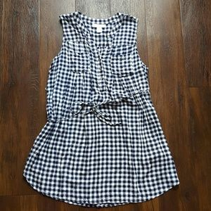 Final! Navy gingham maternity dress tunic
