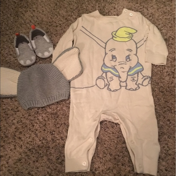 Disney Dumbo All In One Sleep suite romper  3 Months to 36 Months