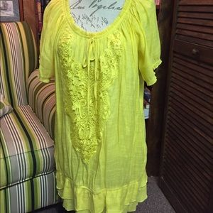 Cato Tops - Cato-canary yellow lightweight top