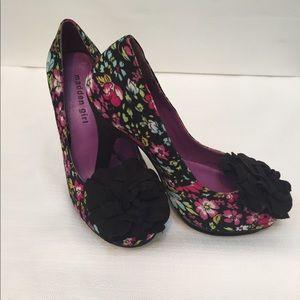 Madden Girl Shoes - Madden girl floral print heels sz 6