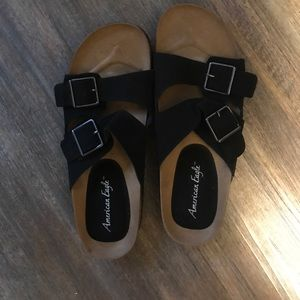 American Eagle by Payless Shoes - NWT American Eagle birckenstock sandals size 9