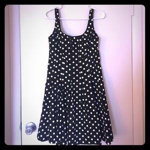 Chaps Dresses & Skirts - Black and White Polka Dot Dress