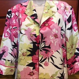 Coldwater Creek Jackets & Blazers - Coldwater Creek Flower Jacket