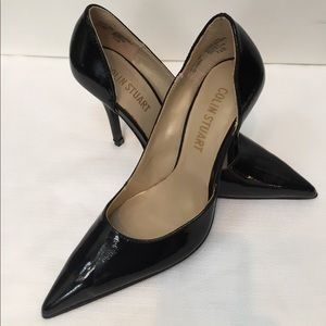 Colin Stuart Shoes - Colin Stuart classic black patent d'orsay pump 7.5