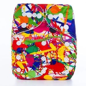 Other - NWT Paint Splatter Print Pocket Cloth Diaper