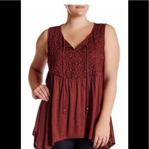 Halo Tops - NWT Halo burgundy sleeveless blouse