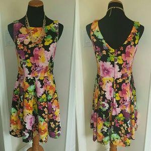 NWT Limited Floral A-Line V-Back Spring Dress