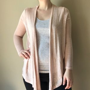 Metaphor Sweaters - Lightweight Pale Pink Cardigan
