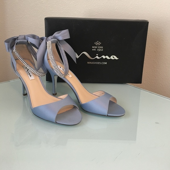 Nina Dusty Blue Bridal Shoes