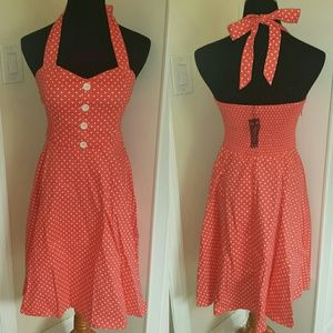 C.C. Boutique  Dresses & Skirts - NWT 50s Style Rockabilly Sweetheart Halter Dress
