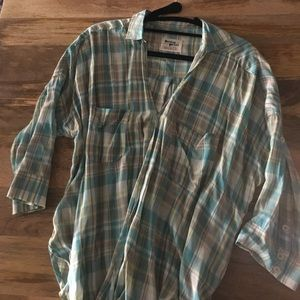 Anthropologie/Holding horses plaid button down