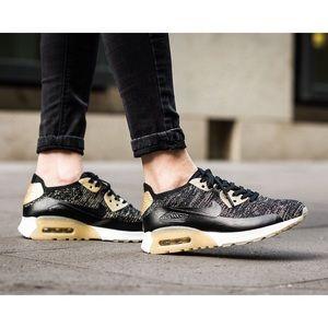 Nike Shoes - Nike Air Max 90 Ultra Metallic Flyknit Sneakers