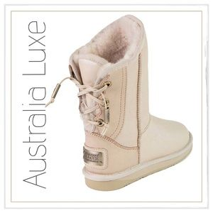 Australia Luxe Collective Shoes - ✨Australia Luxe 'Dita' Lace-Up Sheepskin Boots✨