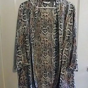 Simply Be Other - Snakeskin Print Kimono
