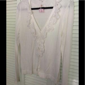 Brand new white Cabi sweater