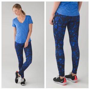Lululemon Blue Black Speed Tight IV Leggings Sz 6