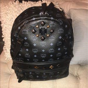 MCM Handbags - Black Medium Monogram MCM Backpack
