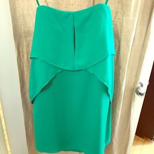 BCBG strapless green dress
