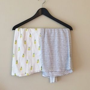 Merona Tops - 2 tanks from Target - striped and pineapple print