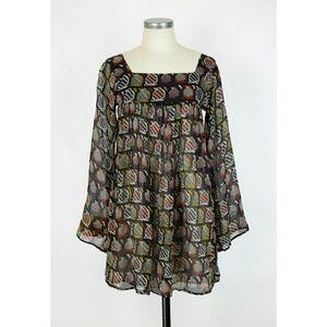 Winter Kate Tops - Winter Kate chiffon vintage silk tunic
