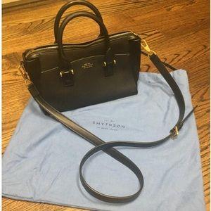 Smythson Handbags - Smythson Eliot Mini Tote Crossbody in Black