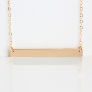 ✨14K GOLD-FILLED✨ Horizontal Blank Bar Necklace