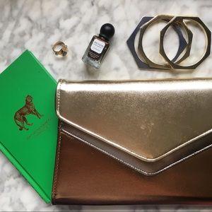 Vintage Handbags - 80's Metallic Envelope Clutch