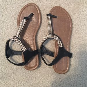 Traffic Shoes - Cute sparkly black sandals