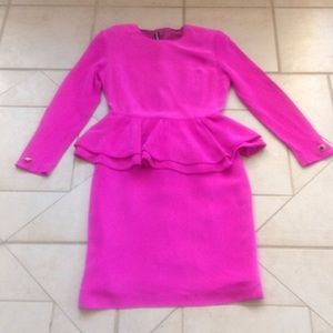 louis feraud Dresses & Skirts - LOUIS FERAUD Hot Pink Dress    Sz 6