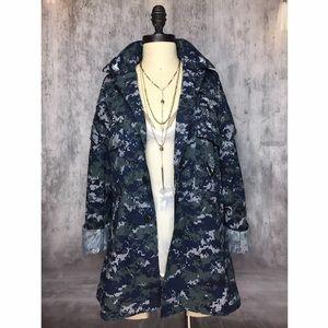 Vintage Jackets & Blazers - UNITED STATES NAVY PIXELATED CAMOUFLAGE JACKET!!