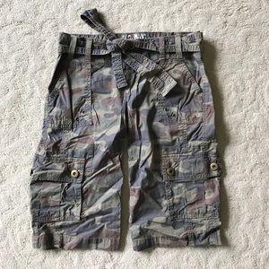 Old Navy Pants - Camo print Old Navy Bermuda-length utility shorts