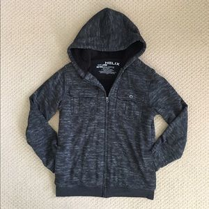 Helix Other - SALE! EUC Marled Gray Fleece Lined Zip-Up Hoodie