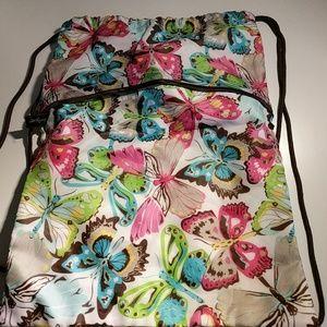 thirty one Handbags - Thirty One Butterfly Print Cinch Sak