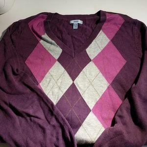 Izod Sweaters - IZOD Purple Argyle Sweater