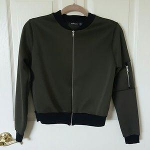 Boohoo Jackets & Blazers - Boohoo olive green bomber jacket