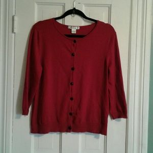 august silk Sweaters - August Silk Red Cardigan
