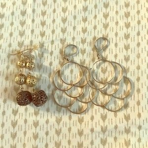 The Limited gold earrings set of 2