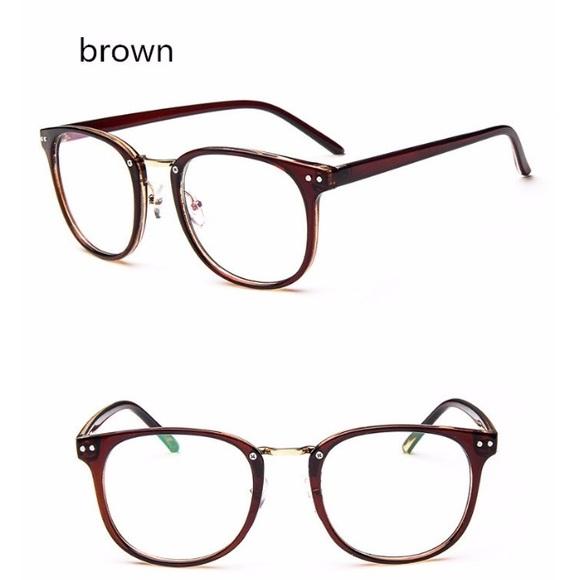 Brown Vintage Frames Glasses Eyeglasses Wide | Poshmark