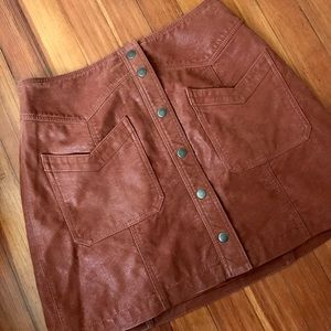 Free People Dresses & Skirts - Brown button up skirt