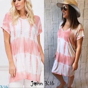 Tie dye summer tunics/coverups